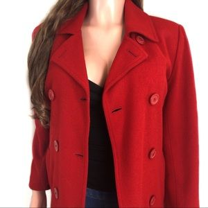 Xhilaration Women's Red Wool Blend Coat Jacket